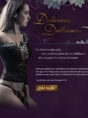 The homepage for Delicious Dalliances