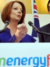Julia Gillard announces details of the carbon tax.