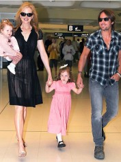 Keith Urban and his family