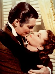 Clark Gable and Vivien Leigh as Rhett and Scarlett in Gone With The Wind
