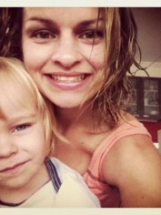 Nicole with one of her boys