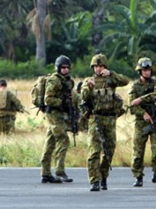 Australian soldiers in East Timor. Photo from the ABC