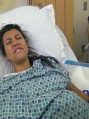Kourtney giving birth to Penelope on Keeping Up With The Kardashians