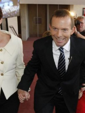 margie and tony abbott1 290x385 margie and tony abbott