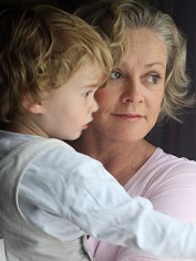 Jane with son Sam