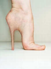 Stiletto surgery. This picture isn't real. But it's not far from the truth.