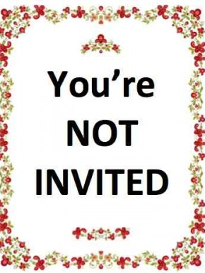Wedding invitations - the anti-invite