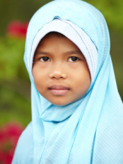 Muslim girl in hijab