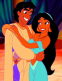 Jasmine and Aladdin hugging