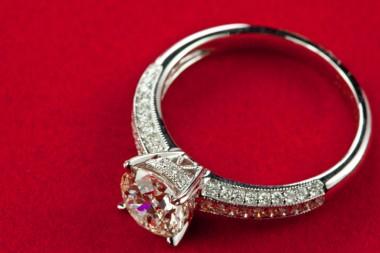 Huge fake wedding rings