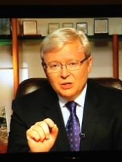 Kevin Rudd on the 7.30 Report