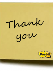 Thank you post it