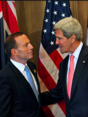 Tony Abbott with US Secretary of State, John Kerry
