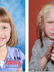 On the left is how the National Center for Missing and Exploited Children imagines Lisa would look and on the right is little Maria from Greece