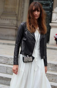 leather jacket Paris Street Style: French Women Dont Wear Trackies.