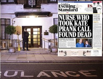 Royal prank call tragedy: Evening Standard