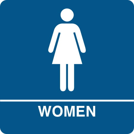 Kids of the opposite sex banned from change rooms for Women only bathroom sign