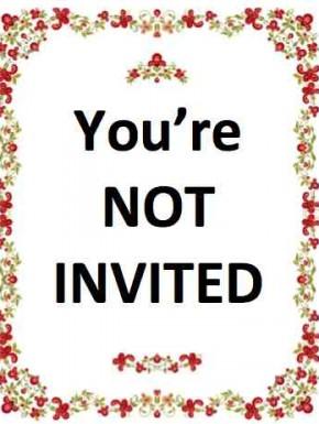 Wedding invitations - the anti-invite