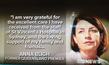 anna bligh cancer statement 1