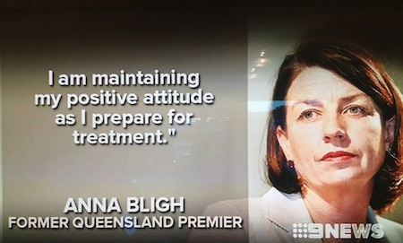 Anna Bligh cancer statement