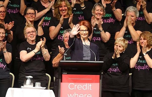 Typhoon Haiyan: Julia Gillard at Victorian Women's Trust